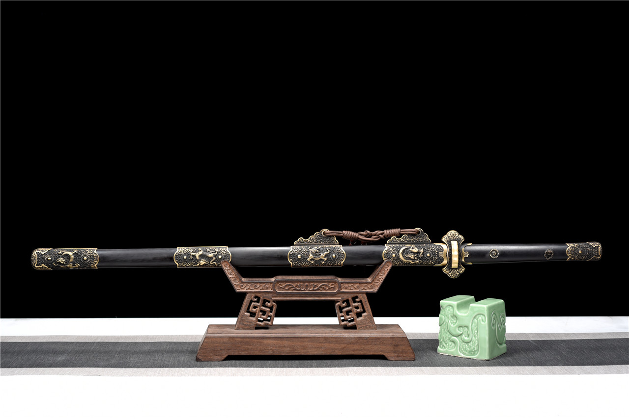 百炼花纹钢铜装豪华唐刀,唐刀,中国唐刀刀,龙泉唐刀,唐刀图片