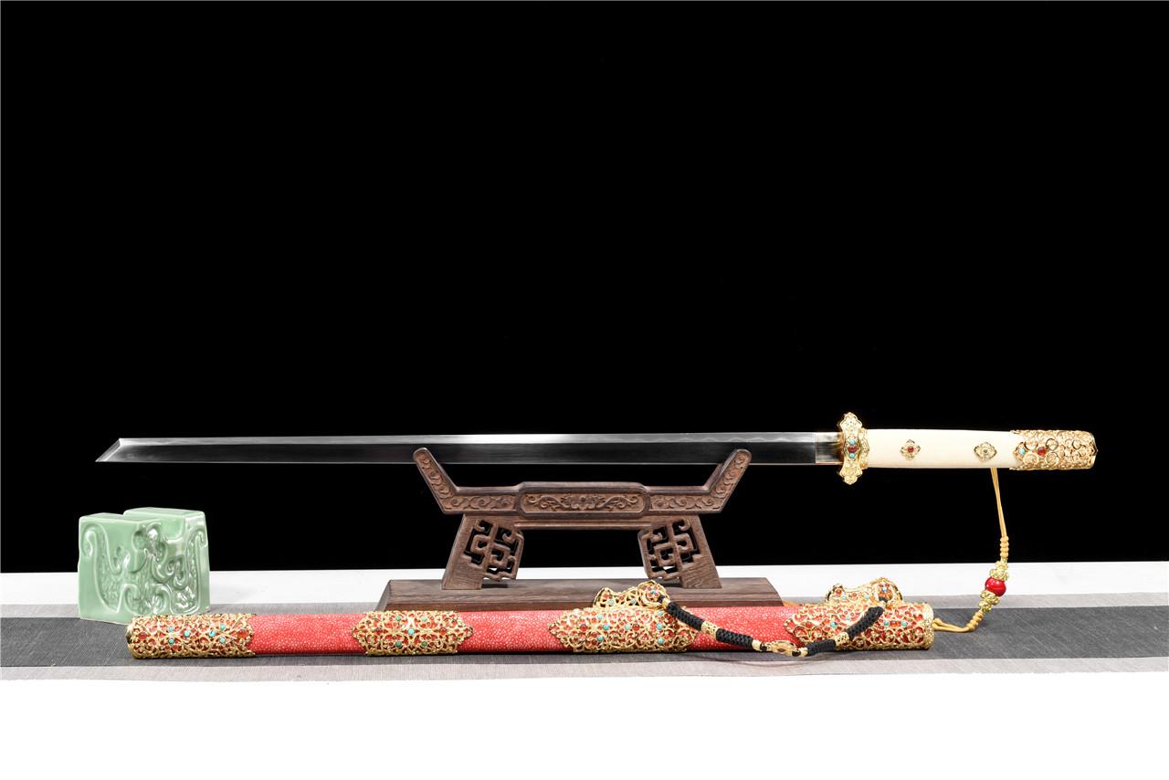 精品祥云豪华唐刀|唐刀|自炼花纹草钢,唐刀,中国唐刀刀,龙泉唐刀,唐刀图片