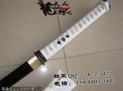 白衣发黑武士刀|武士刀|中碳钢|★★|标准长度