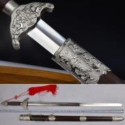 白双龙起脊太极剑 软剑 武术剑不锈钢