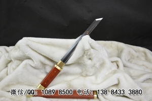 红木素装八角唐刀|t10高碳钢烧刃