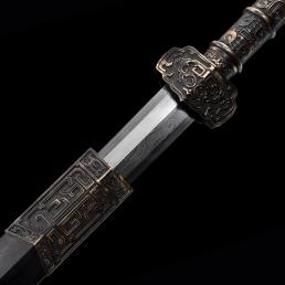 铜柄精工八面汉剑|汉剑|百炼花纹钢|八面汉剑|★★★