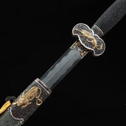 精品羽毛纹烧刃赤龙宝剑|武士刀|羽毛纹烧刃|★★★★