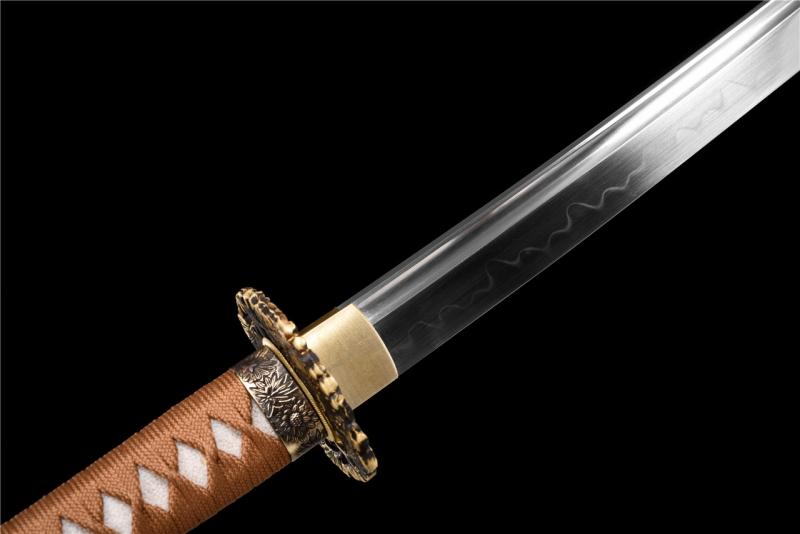 铜装向阳花武士刀|武士刀|高碳钢T10烧刃,日本武士刀图片,东洋刀专卖,武士刀价格
